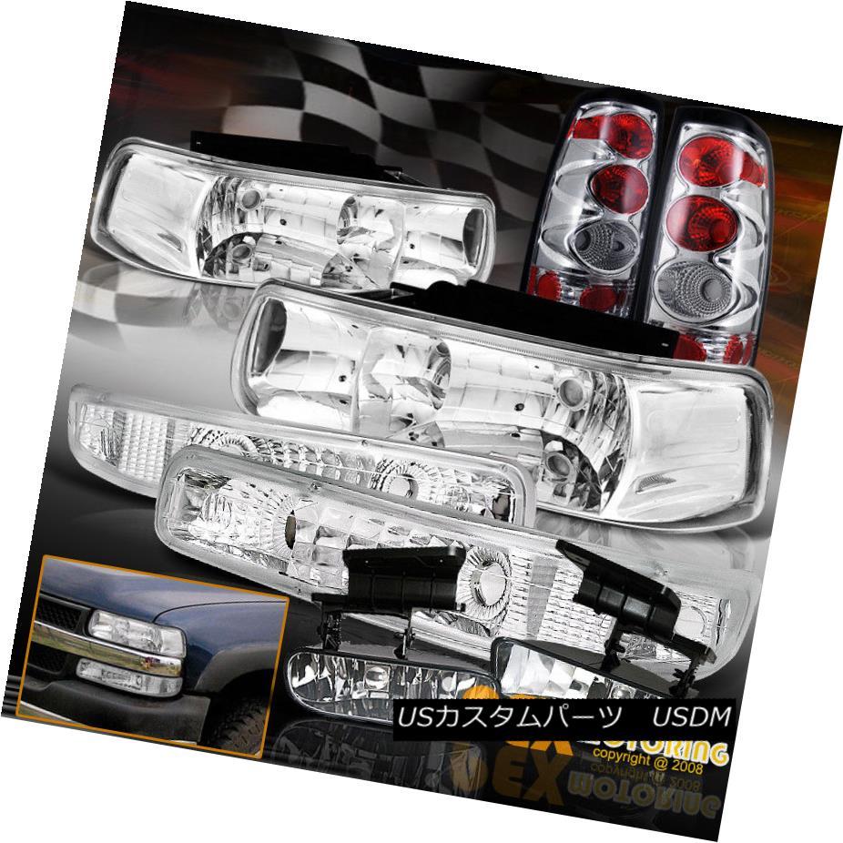 テールライト 1999-2002 Chevy Silverado Chrome Headlights + Signal Lamp + Tail Light +Fog Lamp 1999-2002シボレーシルバラードクロームヘッドライト+信号ランプ+テールライト+フォグランプ