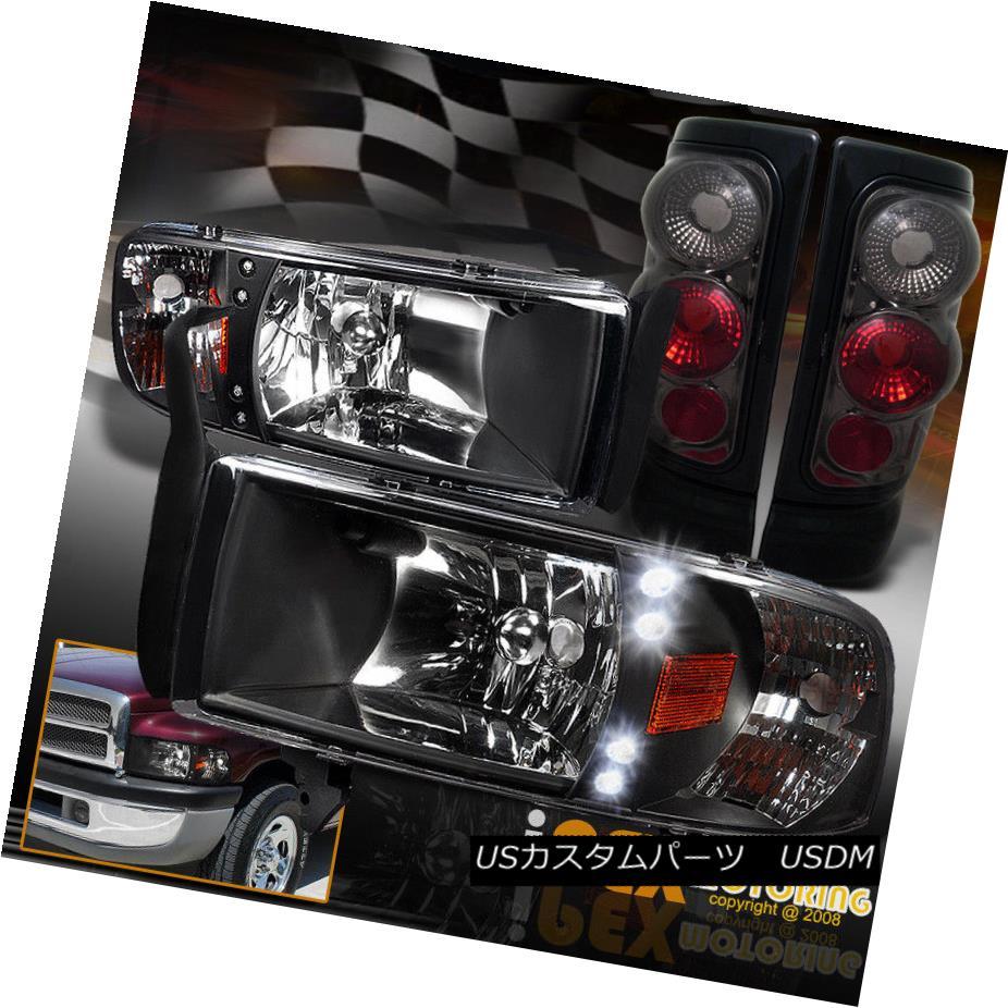 テールライト Headlight 2500 1994-2001 Dodge Ram 1500 2500 2500 3500 LED Black Headlight W/Corner+Smoke Tail Light 1994-2001 Dodge Ram 1500 2500 3500 LEDブラックヘッドライトW/コーナー+スモークテールライト, ワンピースならJENNY(ジェニー):a029d616 --- officewill.xsrv.jp