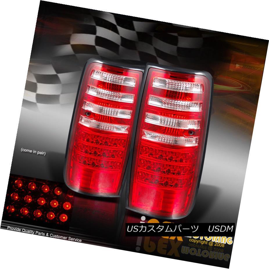 テールライト 1991-1997 Toyota Land Cruiser FJ-82 FJ82 Series LED Tail Lights RED CLEAR Pair 1991-1997トヨタランドクルーザーFJ-82 FJ82シリーズLEDテールライトRED CLEAR Pair