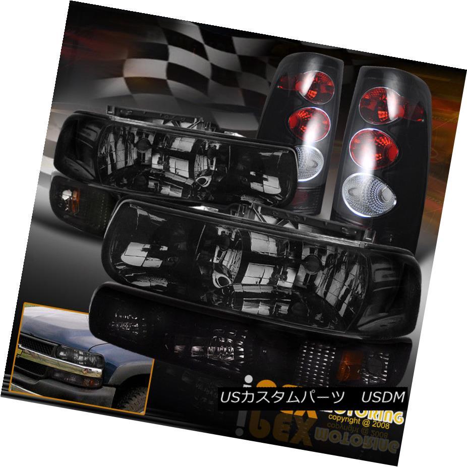 テールライト SHINY Smoke Headlight + Smoke Tail Light + Signal Lamp 1999-2002 Chevy Silverado SHINYスモークヘッドライト+スモークテールライト+シグナルランプ1999-2002 Chevy Silverado