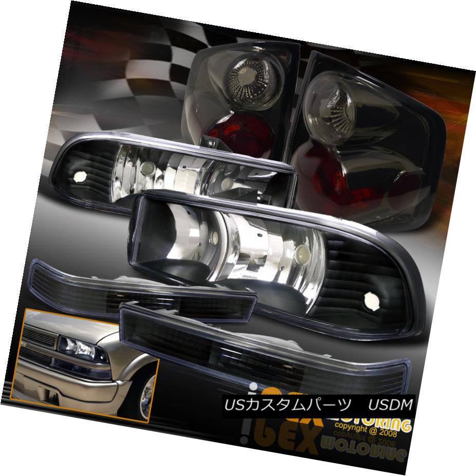 テールライト Black New Set テールライト 1998-2004 Chevy S10 Black Euro Set Headlights W/ Signals + Smoke Tail Lights 新しいセット1998-2004シボレーS10ブラックユーロヘッドライト信号/煙テールライト, 株式会社 丸信:84c4f0a4 --- officewill.xsrv.jp