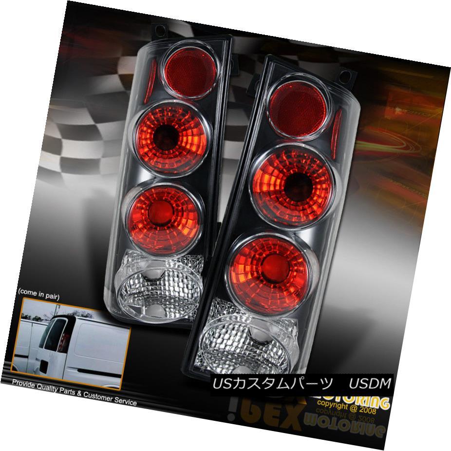 テールライト 03-08 GMC Savana Chevy Express Van Rear Black+Red Brake Altezza Tail Lights Lamp 03-08 GMCサバナチェビーエクスプレスヴァンリアブラック+レッドブレーキAltezzaテールライトランプ