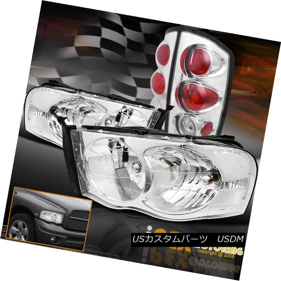 テールライト 2002-2005 Euro Dodge Tail RAM 1500/2500/3500 Chrome Headlights テールライト Set + Euro Tail Lights 4PC 2002-2005ドッジRAM 1500/2500/3500クロームヘッドライトセット+ユーロテールライト4PC, rightavail:a353d52b --- officewill.xsrv.jp