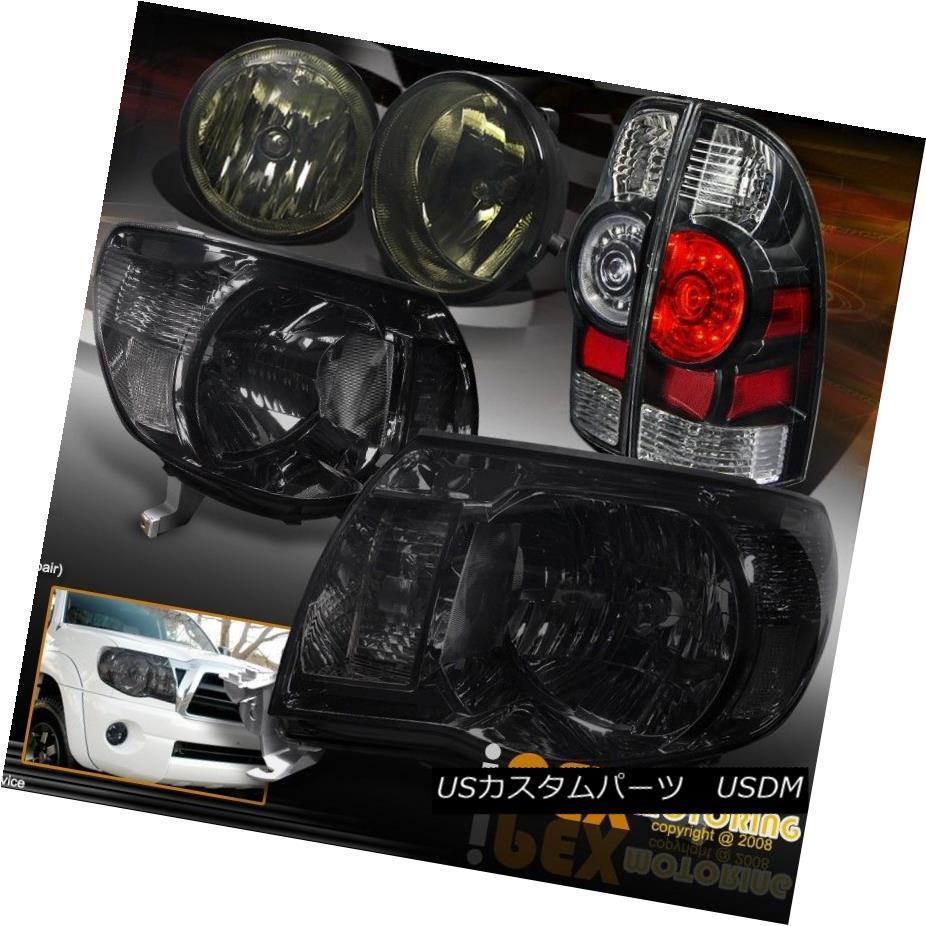 テールライト 05-11 Toyota Tacoma Smoke Headlamp + Super Bright LED Tail Light W/ Fog Lamp Kit 05-11トヨタタコマ煙ヘッドランプ+超明るいLEDテールライトW /フォグランプキット