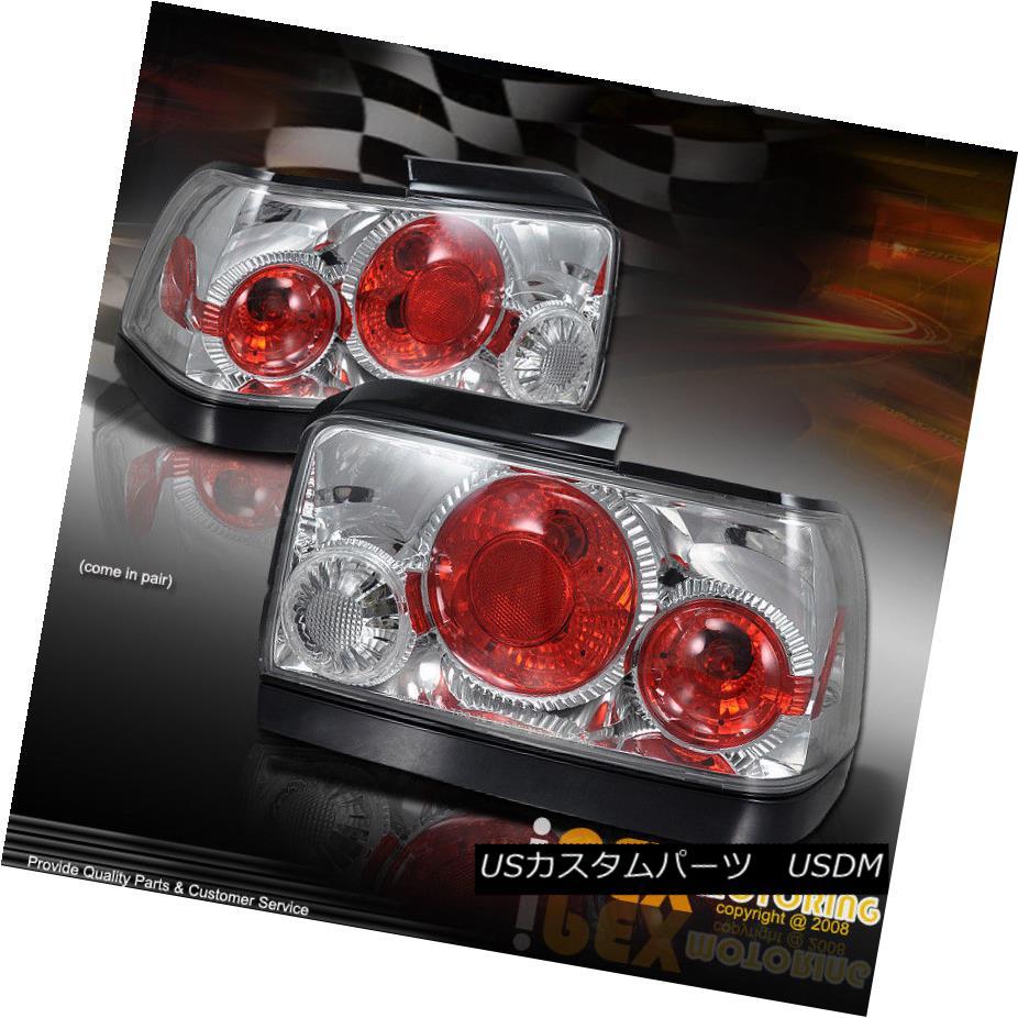 テールライト 1993-1997 Toyota Corolla Chrome Tail Light Brake Lamps With Bulbs + Wiring 1993-1997トヨタカローラクロームテールライト電球と電球を使用したブレーキランプ