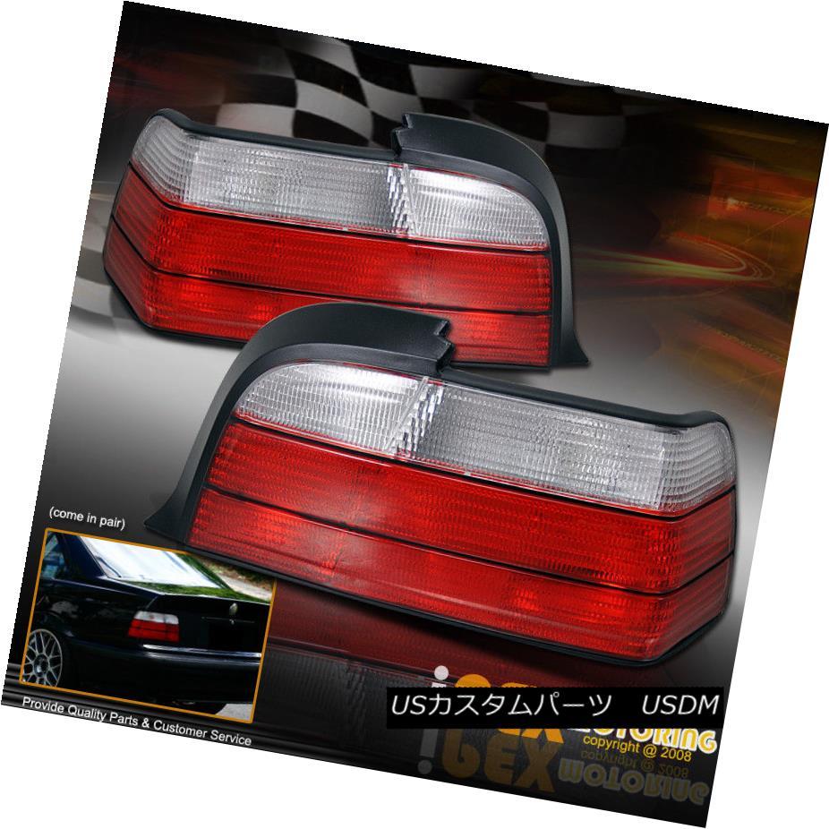 テールライト 92-98 BMW E36 3-Series 4 Door Sedan Red Clear Atlezza Tail Light Brake Lamp 323i 92-98 BMW E36 3シリーズ4ドアセダンレッドクリアAtlezzaテールライトブレーキランプ323i