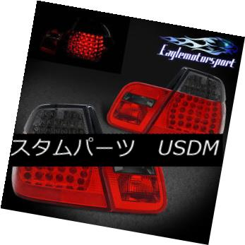 テールライト 1999 2000 2001 BMW E46 325i/330i/323i/328i 4DR LED Red Smoke Rear Tail Lights 1999 2000 2001 BMW E46 325i / 330i / 323i / 328i 4DR LEDレッド・スモークリア・テール・ライト
