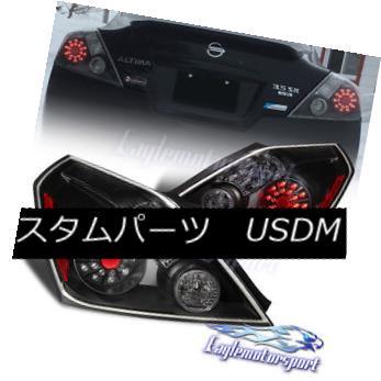 テールライト For 2008-2013 Nissan Altima 2Dr Coupe Black Replacement LED Tail Lights Pair 日産アルティマ2Drクーペブラック交換LEDテールライトペア