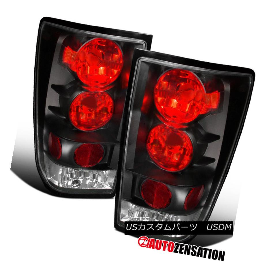 テールライト Fit 04-13 Titan Crystal Black Altezza Style Rear Tail Brake Lights フィット04-13タイタンクリスタルブラックAltezzaスタイルリアテールブレーキライト