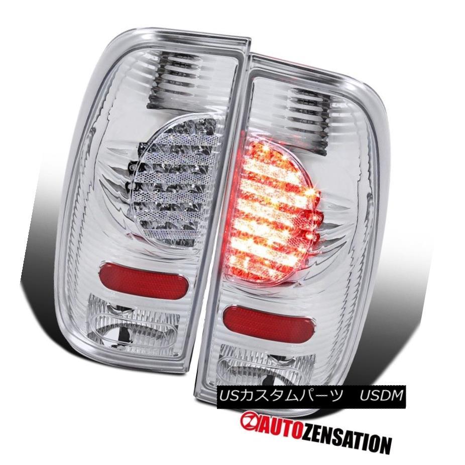 テールライト 1997-2003 F150 1999-2007 F250 Styleside Chrome LED Tail Lights Rear Brake Lamps 1997-2003 F150 1999-2007 F250 StylesideクロームLEDテールライトリアブレーキランプ