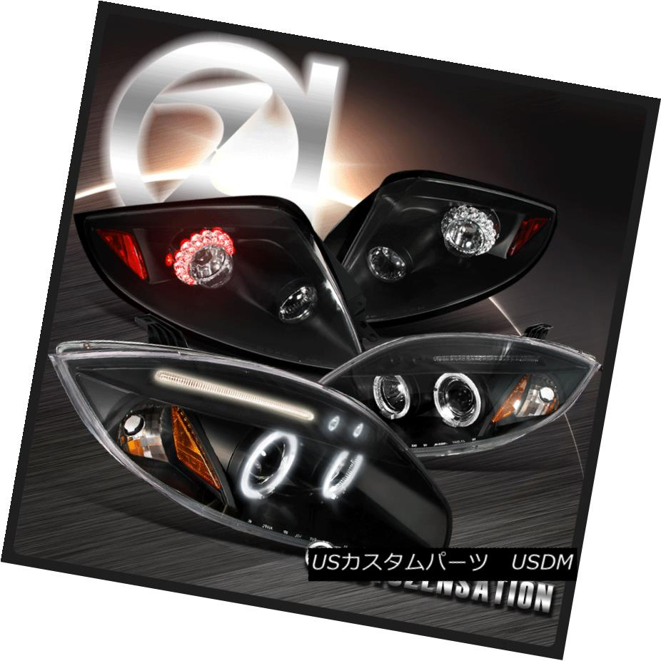 テールライト 06-11 Mitsubishi Eclipse Black Halo LED Projector Headlights+LED Tail Lamps 06-11三菱Eclipse Black Halo LEDプロジェクターヘッドライト+ LEDテールランプ