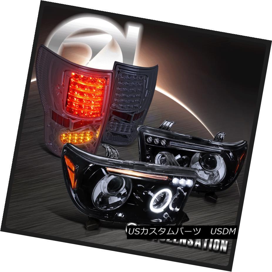 <title>車用品 バイク用品 >> パーツ ライト ランプ テールライト For 07-13 Tundra 販売 Glossy Black LED Halo Projector Headlights+Smoke Tail Lamps 07-13トンドラグロッシーブラックLEDハロープロジェクターヘッドライト+ Smo keテールランプ</title>