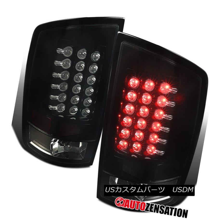 テールライト Dodge 07-08 Ram 1500 07-09 Ram 2500/3500 Glossy Black LED Tail Brake Lights ドッジ07-08ラム1500 07-09ラム2500/3500光沢ブラックLEDテールブレーキライト