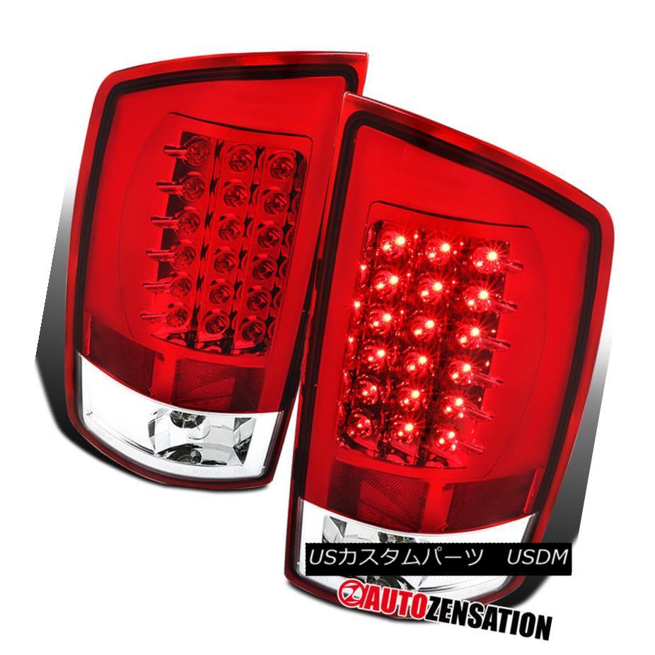 テールライト Dodge 07-08 Ram 1500 07-09 Ram 2500/3500 Red LED Tail Brake Lights Lamps Pair ドッジ07-08ラム1500 07-09 Ram 2500/3500レッドLEDテールブレーキライトランプペア