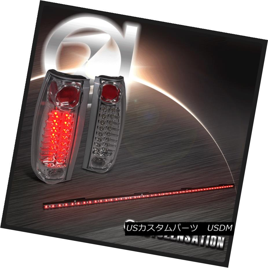 テールライト 1988-1998 Chevy GMC C10 C/K Smoke LED Tail Lights+49