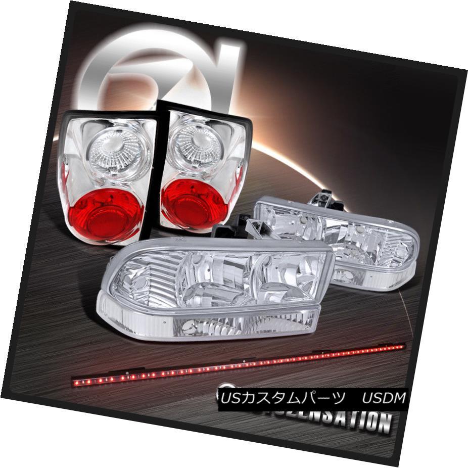 テールライト 98-04 Blazer S10 Chrome Crystal Headlights+Bumper+Tail Lights+LED Tailgate Bar 98-04ブレイザーS10クロームクリスタルヘッドライト+ブーム +テールライト+ LEDテールゲートバー