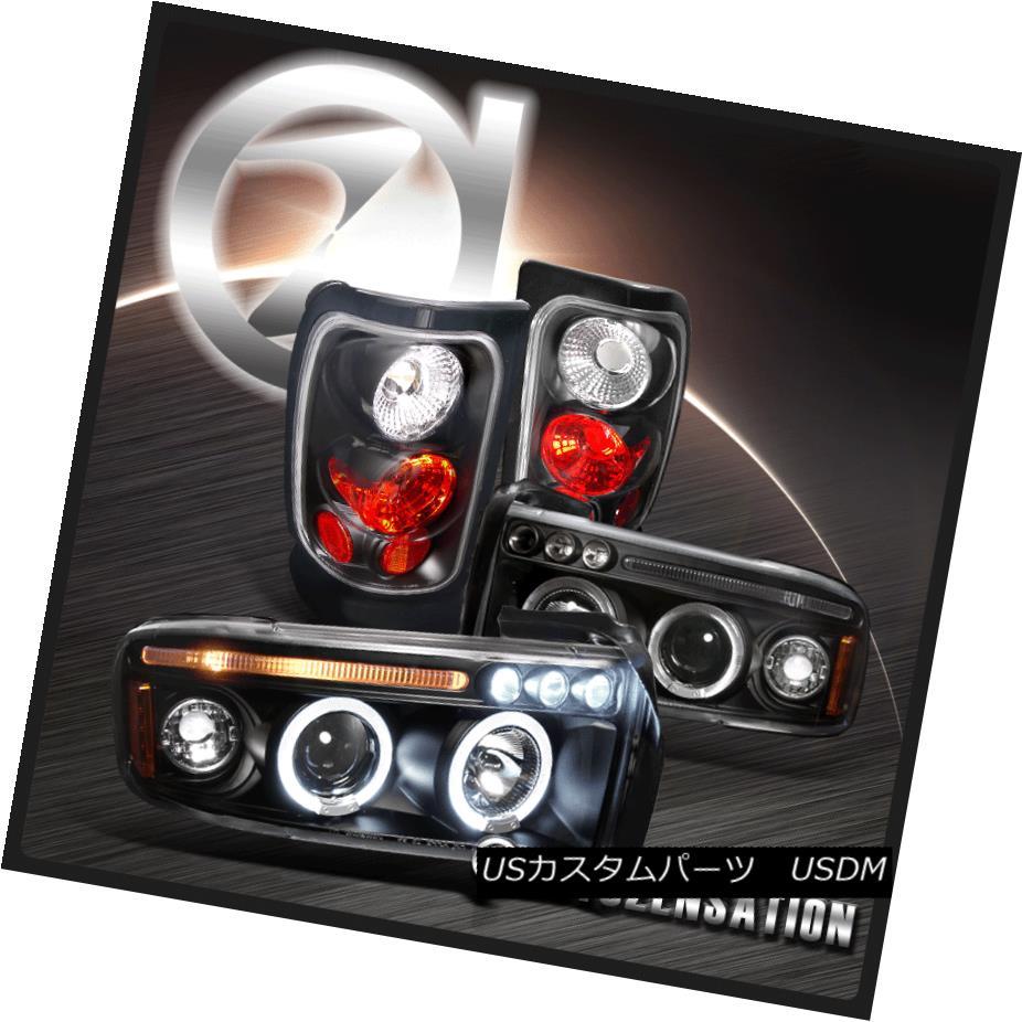 テールライト 94-01 Dodge RAM 1500/2500/3500 Black Projector Headlights+Altezza Tail Lights 94-01 Dodge RAM 1500/2500/3500黒プロジェクターヘッドライト+ Alt ezzaテールライト
