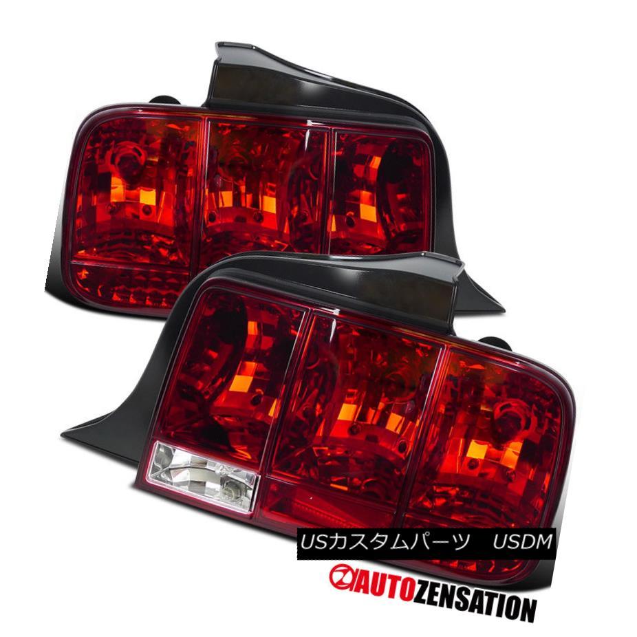 テールライト 05-09 Ford Mustang Red Integrate Sequential Turn Signal Tail Lights 05-09フォードマスタングレッド、シーケンシャルターンシグナルテールライトを統合