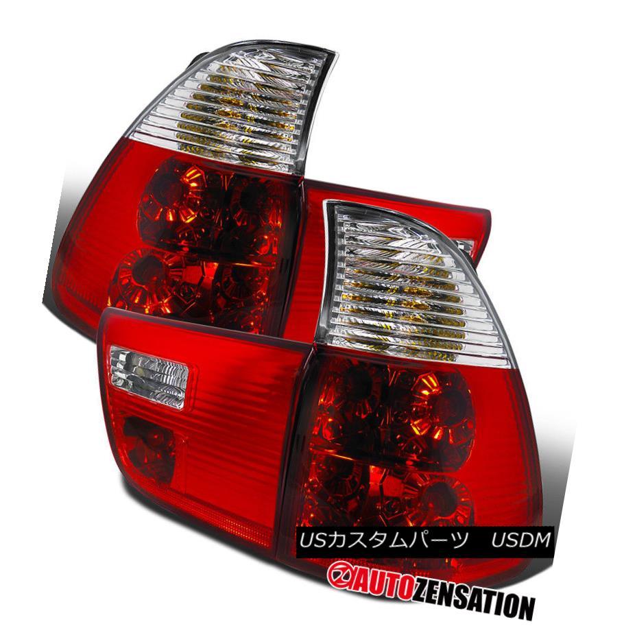 テールライト 2000-2005 BMW E53 X5 Red/Clear Tail Trunk Lights Brake Lamps 2000-2005 BMW E53 X5レッド/クリアテールトランクライトブレーキランプ