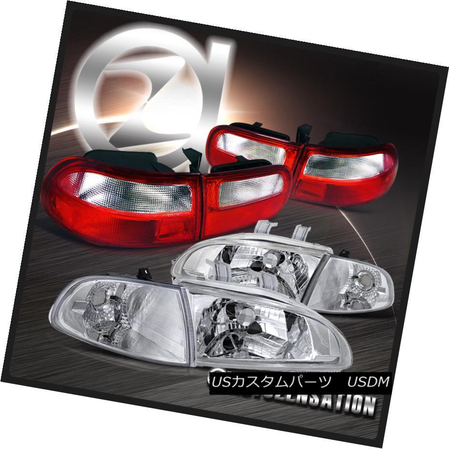 テールライト Fit 92-95 Headlights+Corner Civic 3DR Chrome Crystal Lamps Cor Headlights+Corner Signal+Red Clear Tail Lamps 92-95シビック3DRクロームクリスタルヘッドライト+ Cor ner信号+レッドクリアテールランプ, ノザワオンセンムラ:8f81d512 --- officewill.xsrv.jp