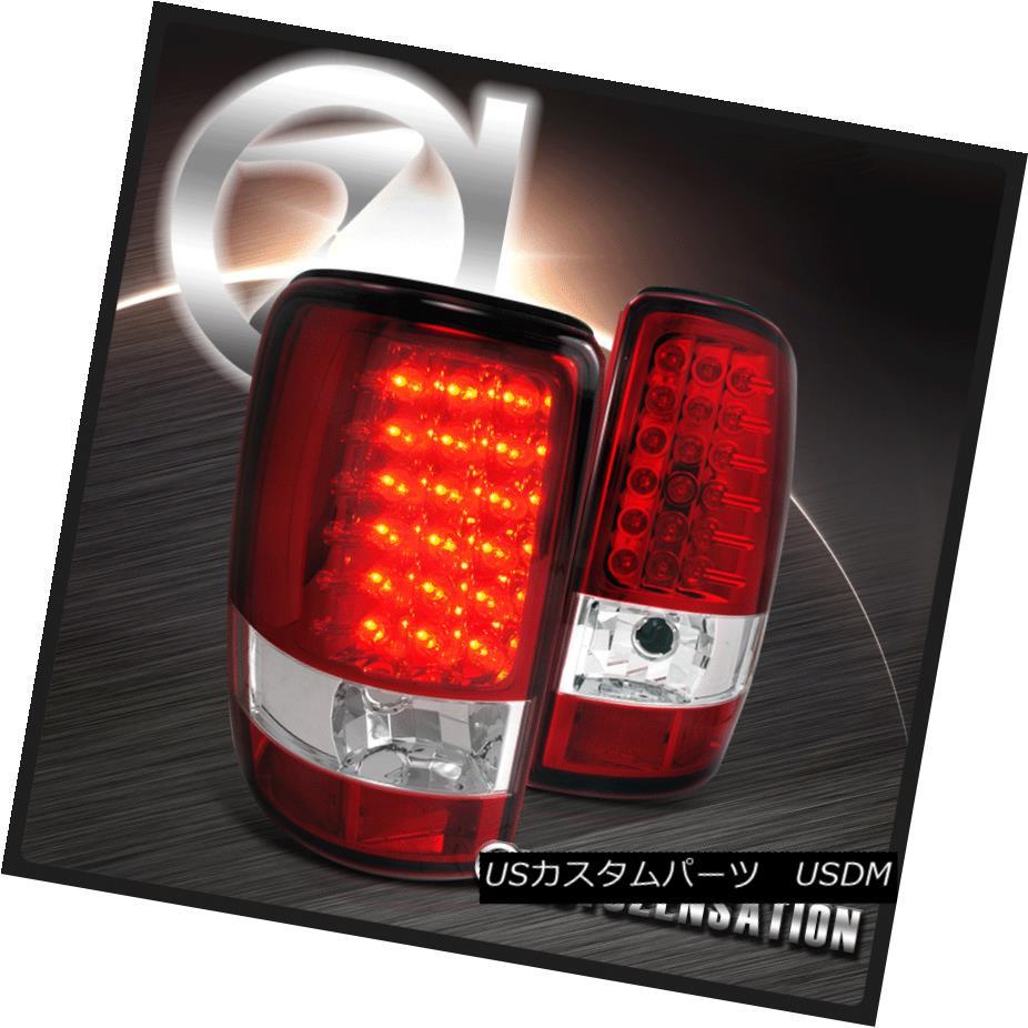 テールライト 00-06 Suburban Tahoe/ GMC Yukon Denali XL Red/Clear LED Tail Lights 00-06郊外タホ/ GMCユーコンデナリXLレッド/クリアLEDテールライト