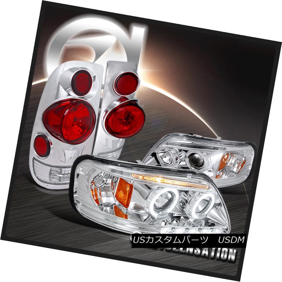 テールライト 97-03 Ford F150 Chrome Halo Ford LED Projector 3D 97-03 Headlights+3D Altezza Tail Lamps 97-03 Ford F150 Chrome Halo LEDプロジェクターヘッドライト+ 3D Altezzaテールランプ, シームレスインナーSMOON-スムーン:0a63a524 --- officewill.xsrv.jp