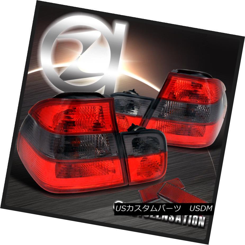 テールライト 99-01 BMW E46 3-Series 323i 325i 328i 4Dr Red Smoke Rear Tail Brake Lights 99-01 BMW E46 3シリーズ323i 325i 328i 4Drレッド・スモークリア・テール・ブレーキライト