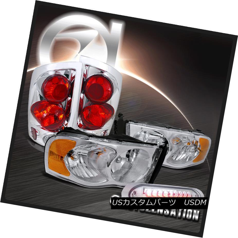 テールライト 02-05 Ram Chrome Crystal Headlights+Tail Headlights+Tail Lamp+Clear 02-05 LED 3RD 3RD Brake Light 02-05ラムクロームクリスタルヘッドライト+タイ lランプ+クリアLED 3RDブレーキライト, インテリアふじ:0ce961f3 --- officewill.xsrv.jp