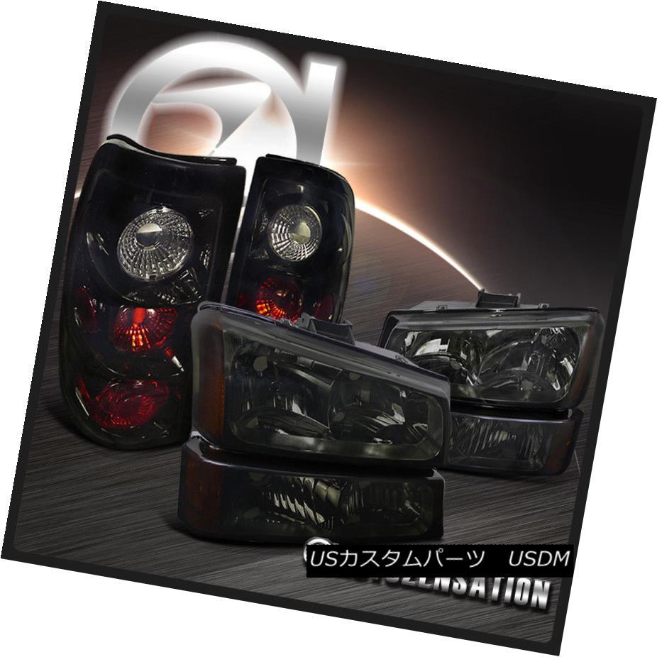 テールライト 03-07 Chevy Silverado Smoke 03-07 Headlights+Bumper Smoke Lamp+Glossy Black Silverado Tail Brake Light 03-07 Chevy Silveradoスモークヘッドライト+バーン 1ランプ+光沢のあるブラックテールブレーキライト, DREAMY:0185b80a --- officewill.xsrv.jp