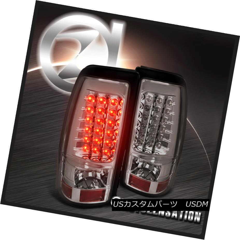 テールライト 04-06 Silverado Sierra 1500 2500 Hybrid Smoke LED Tail Brake Lights 04-06 Silverado Sierra 1500 2500ハイブリッド煙LEDテールブレーキライト
