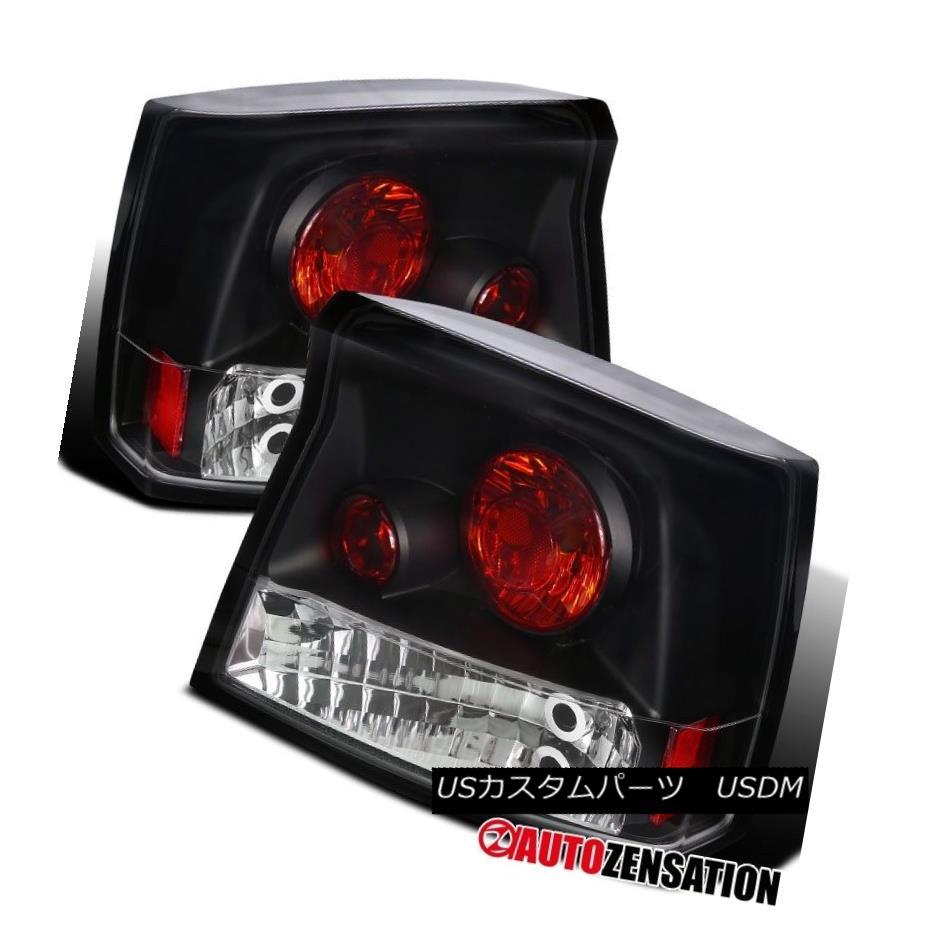 テールライト 05-08 Dodge Charger R/T SRT8 Black Altezza Rear Tail Brake Lights 05-08ダッジチャージャーR / T SRT8ブラックアルテッツァリアテールブレーキライト