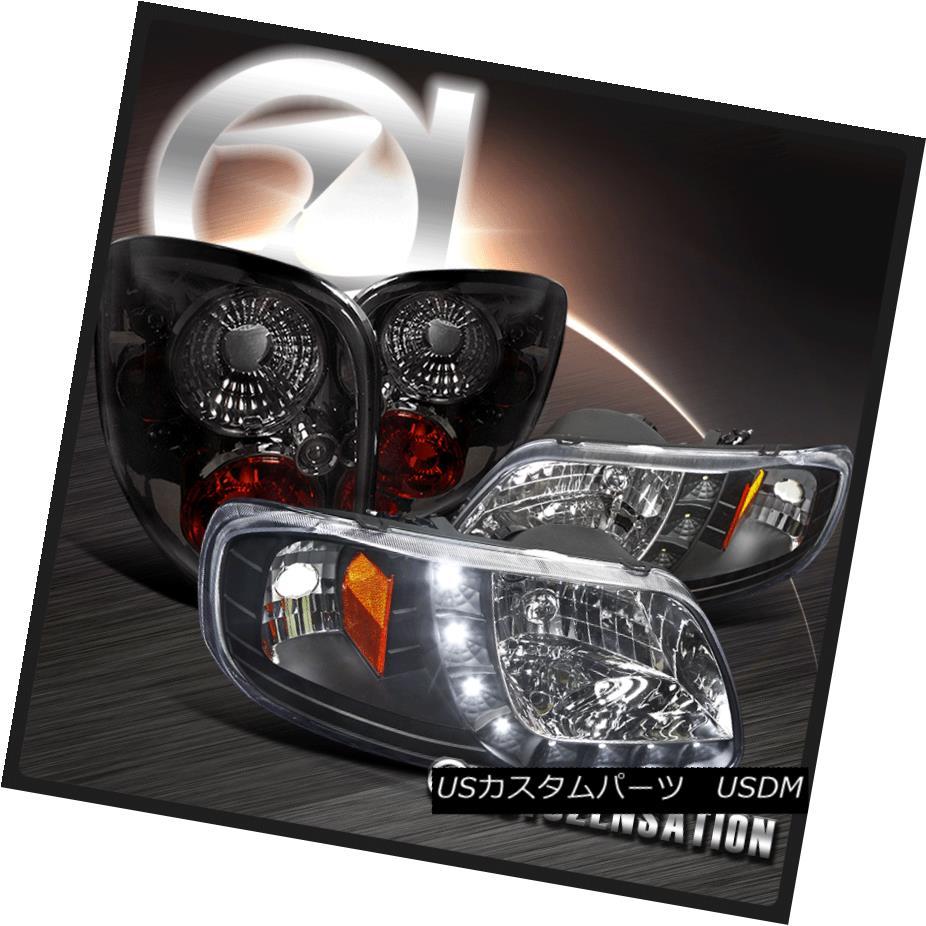 テールライト 97-00 SMD Ford F150 Flareside Black Flareside SMD Strip テールライト DRL Headlights+Smoke Tint Tail Lamps 97-00 Ford F150 FlaresideブラックSMDストリップDRLヘッドライト+スモーク keテントテールランプ, ワインカリフォルニア:9c563aef --- officewill.xsrv.jp