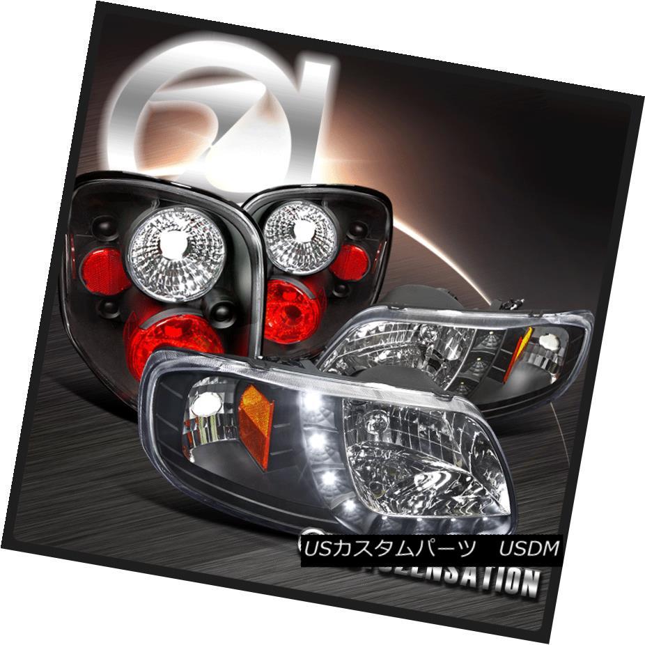 テールライト 97-00 Tail Lamps F-150 Flareside Black DRL SMD LED DRL Headlights+Rear Brake Tail Lamps 97-00 F-150フラレイドブラックSMD LED DRLヘッドライト+リア rブレーキテールランプ, じゃにおべる模型:dccd3985 --- officewill.xsrv.jp