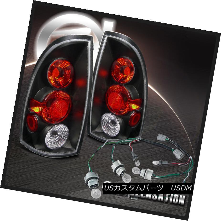 テールライト For 09-15 Toyota Tacoma Black JDM Taillights w/ Bulbs Wiring 09-15トヨタタコマブラックJDMテールライト(電球付)