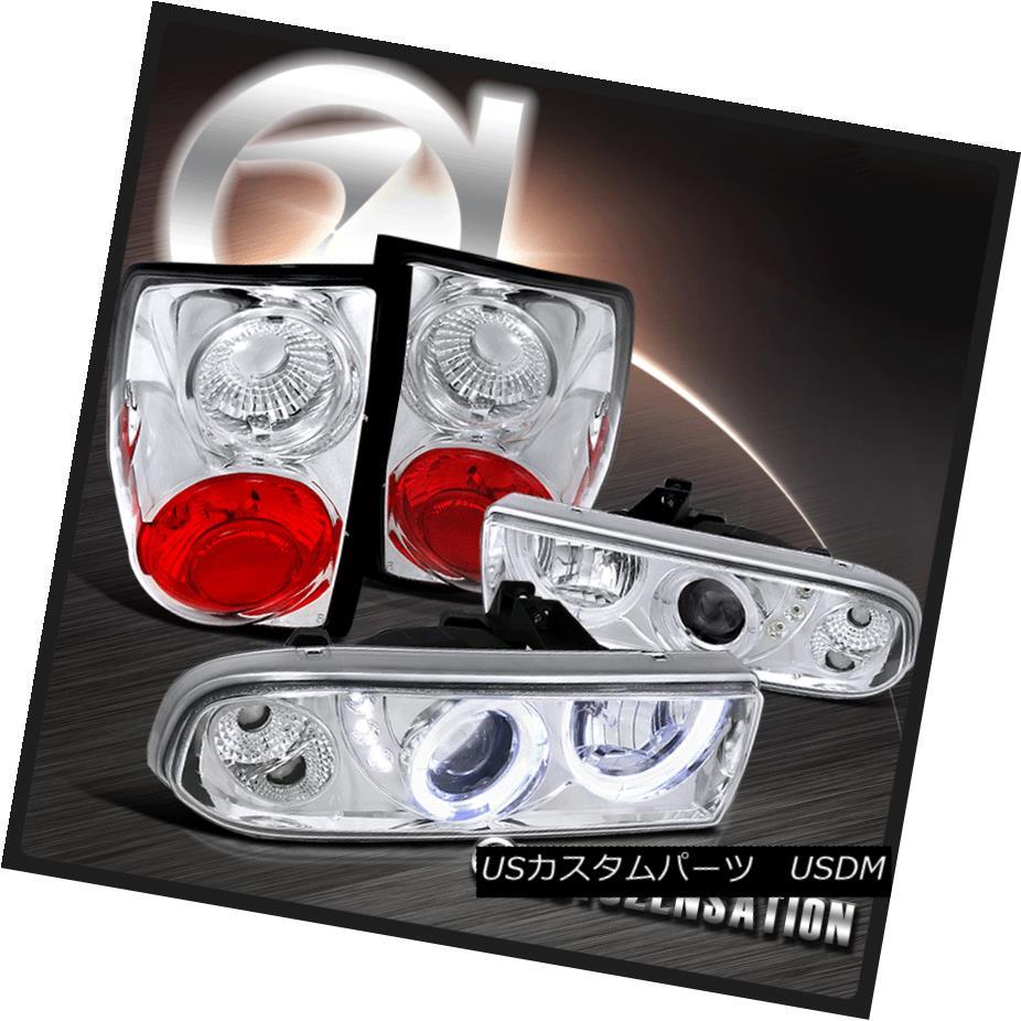 テールライト 1998-2004 Chevy S10 Chrome Halo SMD LED Projector Headlights+Altezza Tail Lamp 1998-2004 Chevy S10 Chrome Halo SMD LEDプロジェクターヘッドライト+ Alt ezzaテールランプ