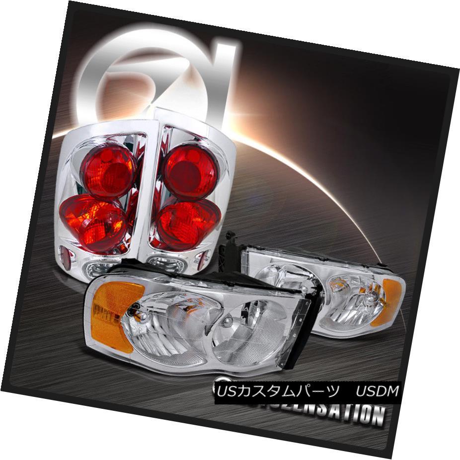 テールライト 02-05 Ram 1500 2500 3500 Chrome Crystal Headlights+3D Altezza Tail Lamps 02-05 Ram 1500 2500 3500クロームクリスタルヘッドライト+ 3D Altezzaテールランプ