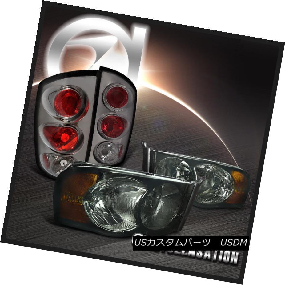 テールライト 02-05 Ram 1500 2500 3500 Smoke Crystal Headlights+Altezza Tail Lamps 02-05 Ram 1500 2500 3500スモーククリスタルヘッドライト+ Alt ezzaテールランプ