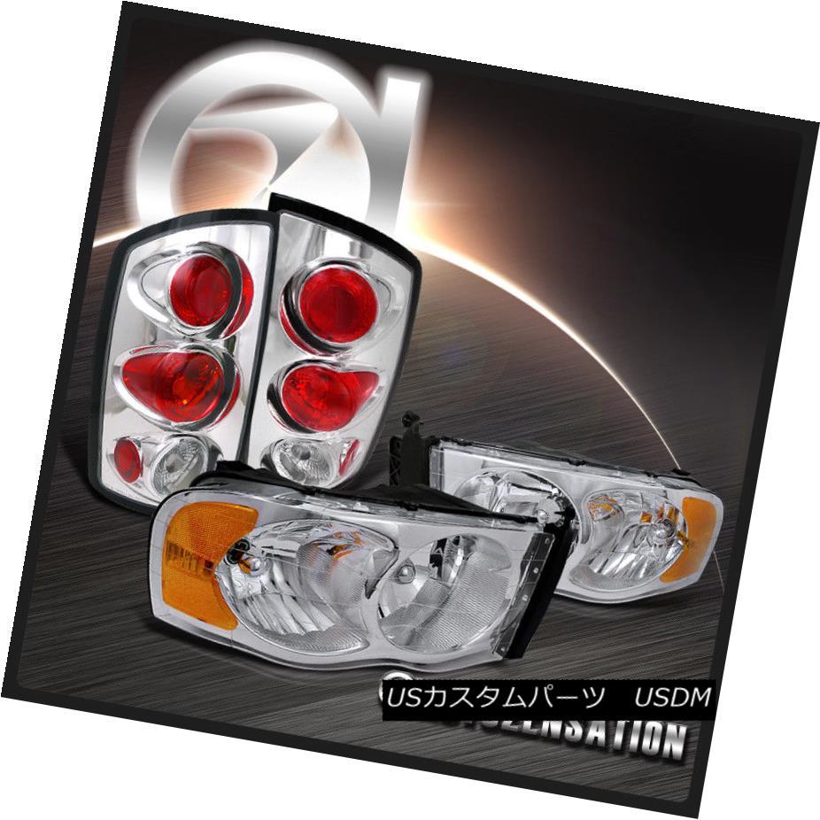 テールライト 02-05 Ram 1500 2500 3500 Chrome Crystal Headlights+Altezza Tail Lamps 02-05 Ram 1500 2500 3500クロームクリスタルヘッドライト+ Alt ezzaテールランプ