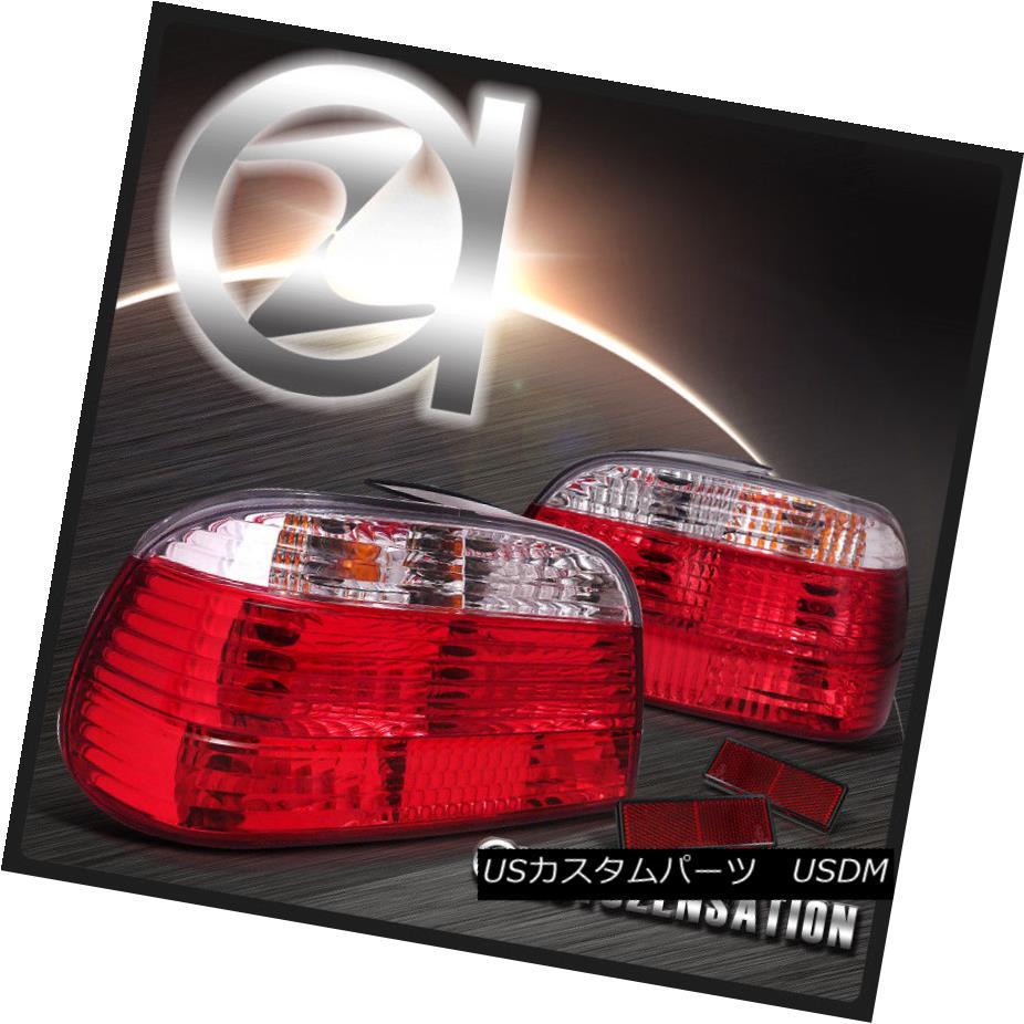 テールライト 95-01 BMW E38 7-Series Red/ Clear Tail Lights Rear Brake Lamp 95-01 BMW E38 7シリーズレッド/クリアテールライトリアブレーキランプ
