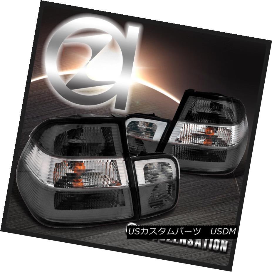 テールライト 99-01 BMW E46 3-Series 323i 325i 4Dr Smoke Clear Rear Tail Brake Lights 99-01 BMW E46 3シリーズ323i 325i 4Drスモーククリアリアテールブレーキライト