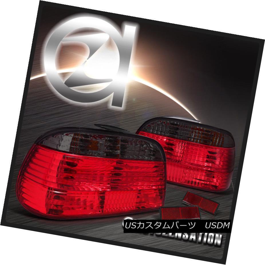 テールライト 95-01 BMW E38 7-Series 740i 750iL Red Smoke Rear Tail Brake Lights 95-01 BMW E38 7シリーズ740i 750iLレッド・スモークリア・テール・ブレーキ・ライト