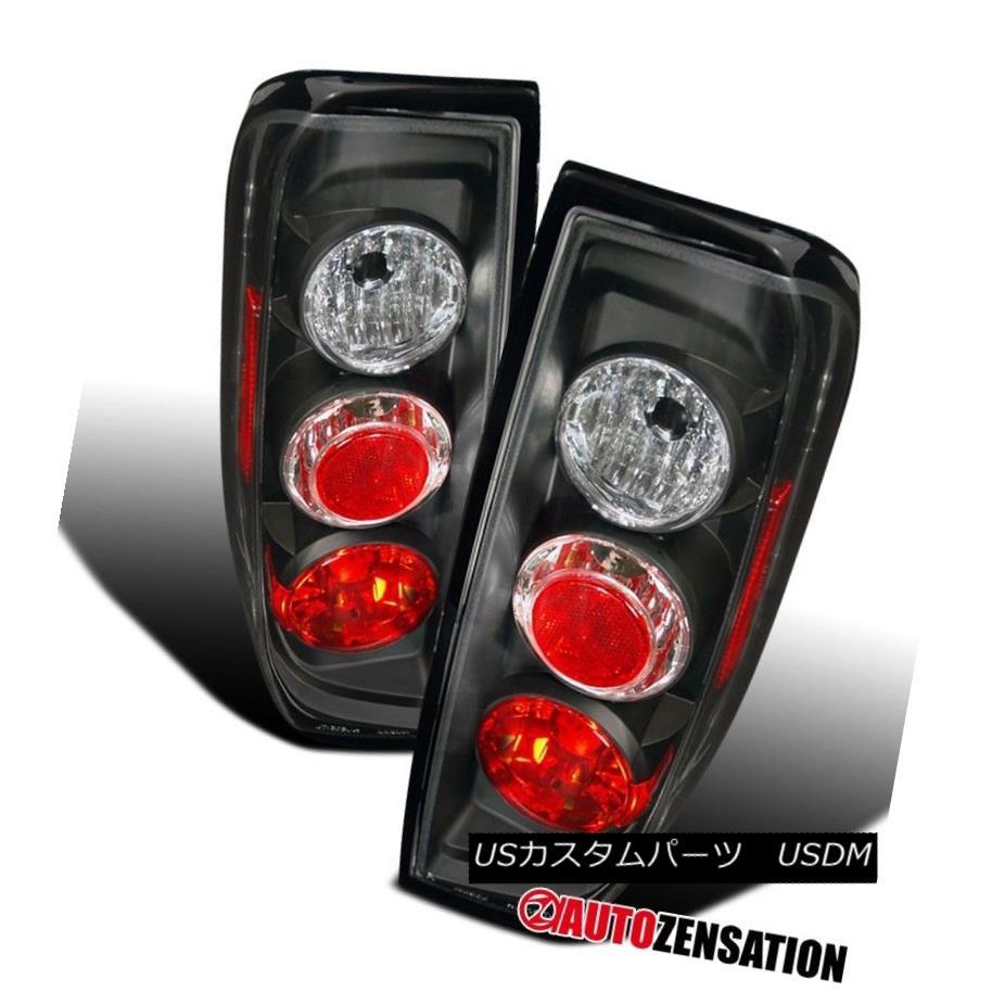 テールライト For 05-14 Nissan Frontier 09-12 Suzuki Equator Black Tail Lights Rear Brake Lamp 05-14日産フロンティア09-12スズキエクアターブラックテールライトリアブレーキランプ