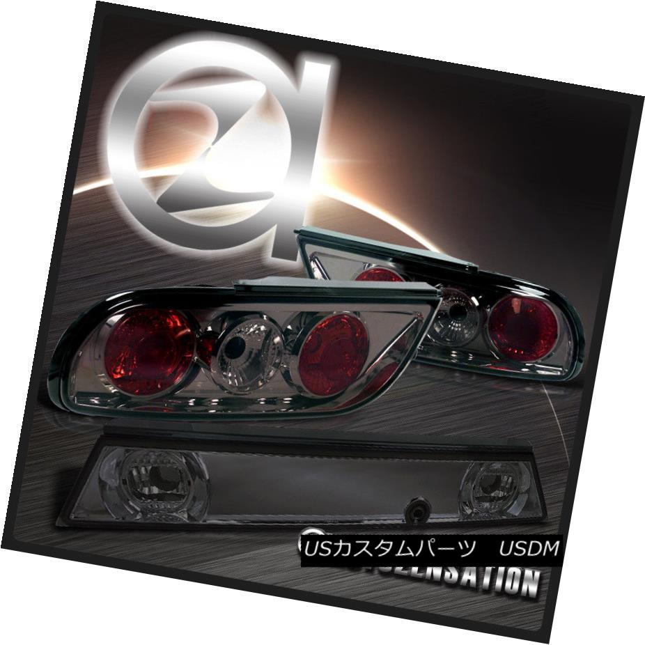 テールライト For 89-94 Nissan 240SX S13 Hatchback JDM Smoke Tail Lights+Center Trunk Piece 89-94日産240SX S13ハッチバックJDMスモークテールライト+センタートランクピース