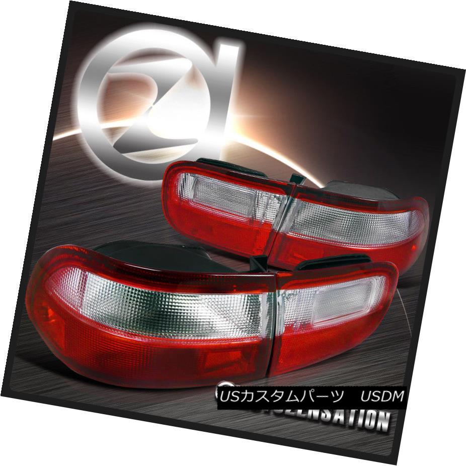 テールライト For 92-95 Honda Civic 2/4dr Coupe Sedan Red/ Clear Tail Lights Rear Brake Lamp 92-95ホンダシビック2 / 4drクーペセダンレッド/クリアテールライトリアブレーキランプ