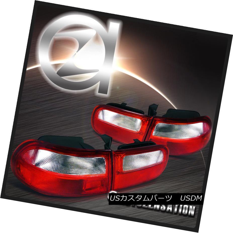 テールライト For 92-95 Honda Civic 3dr Hatchback Red/ Clear Tail Lights Rear Brake Lamp 92-95ホンダシビック3drハッチバックレッド/クリアテールライトリアブレーキランプ