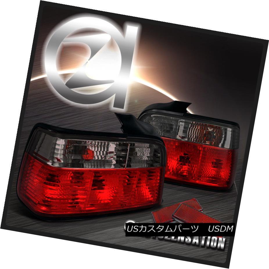 テールライト 92-98 BMW E36 3-Series 4Dr Red/ Smoke Tail Lights Rear Brake Lamp 92-98 BMW E36 3シリーズ4Drレッド/スモークテールライトリアブレーキランプ