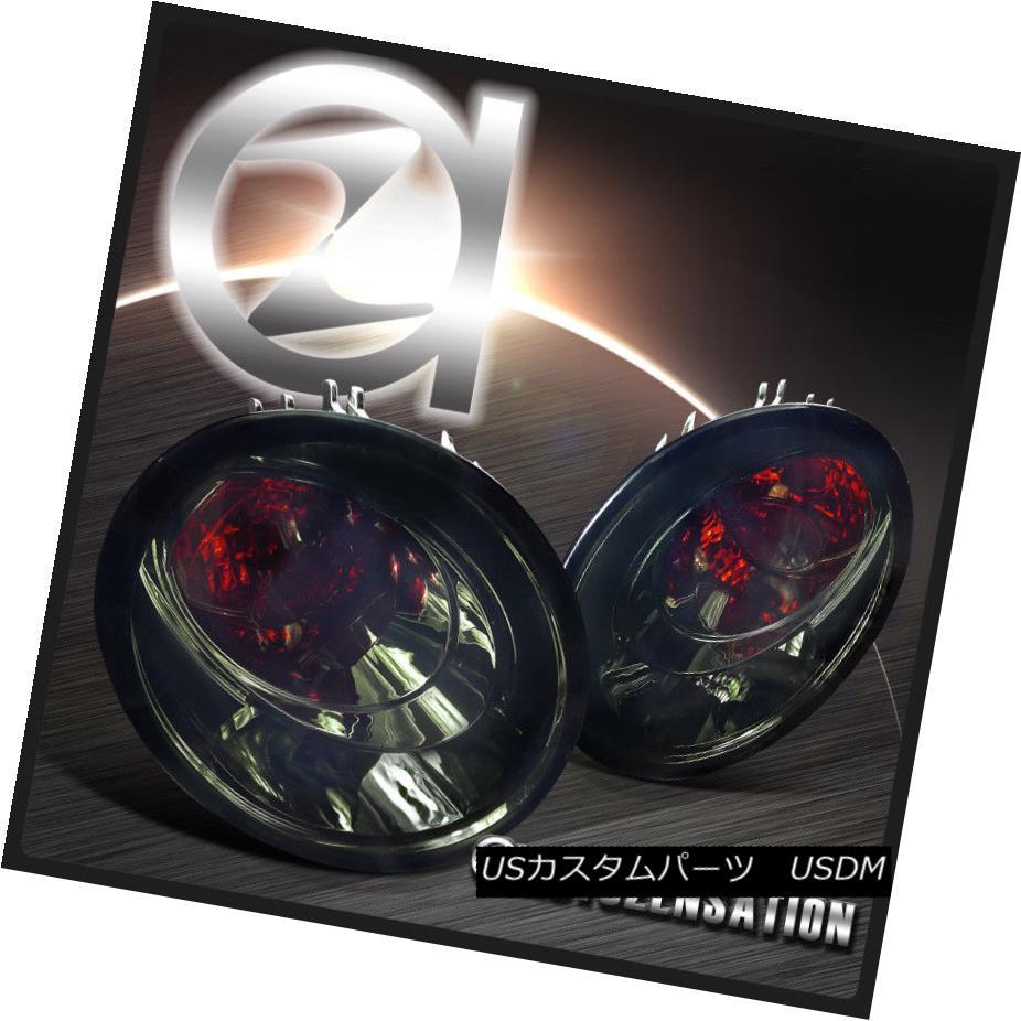 テールライト For 98-05 VW Beetle Crystal Smoke Tint Lens Rear Tail Brake Lights Pair 98-05 VWビートルクリスタルスモークティントレンズリアテールブレーキライトペア