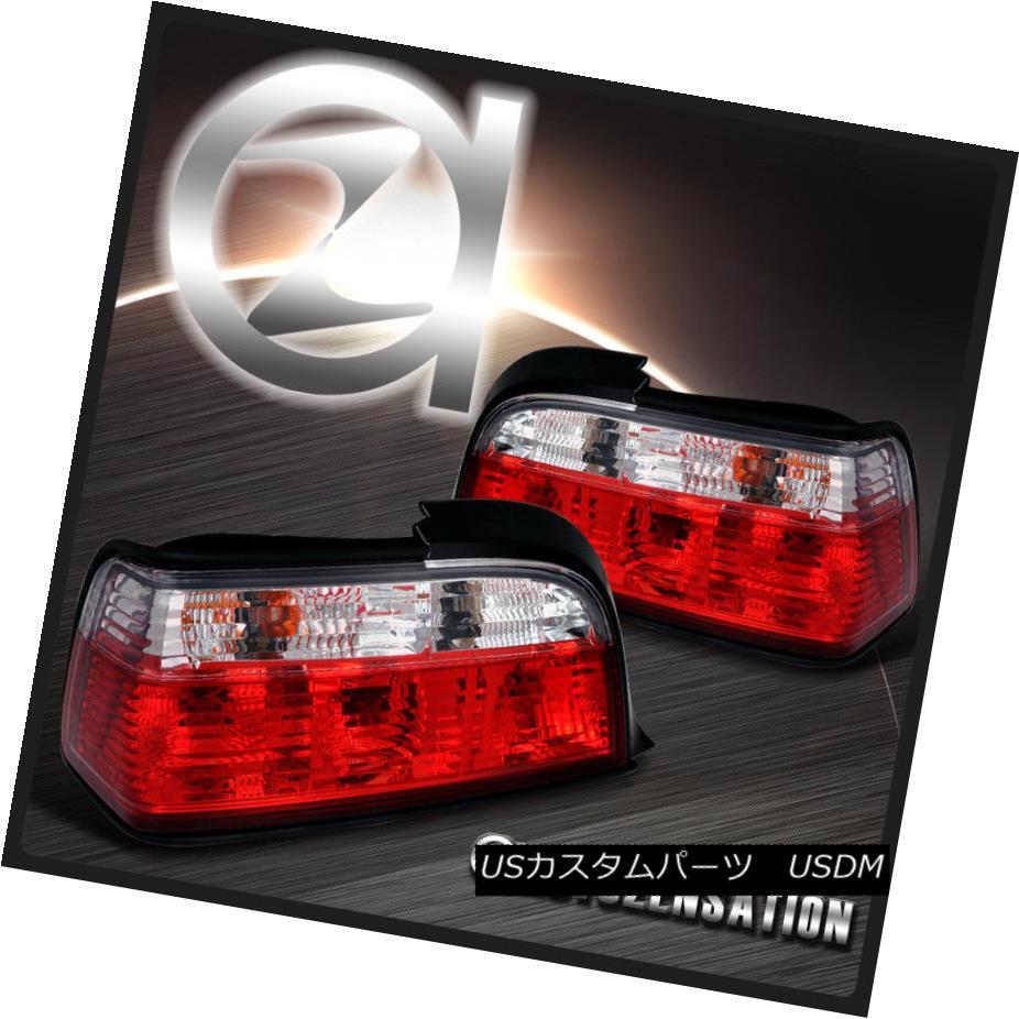 テールライト 92-98 BMW E36 3-Series 2Dr 318i 325i Red Clear Rear Tail Brake Lights 92-98 BMW E36 3シリーズ2Dr 318i 325iレッドクリアリアテールブレーキライト