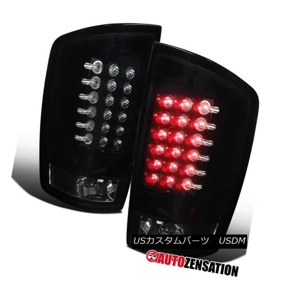 テールライト 02-06 Dodge Ram Truck Dark Smoke Lens Black LED Tail Lights Rear Brake Lamps 02-06ダッジラムトラックダークスモークレンズブラックLEDテールライトリアブレーキランプ