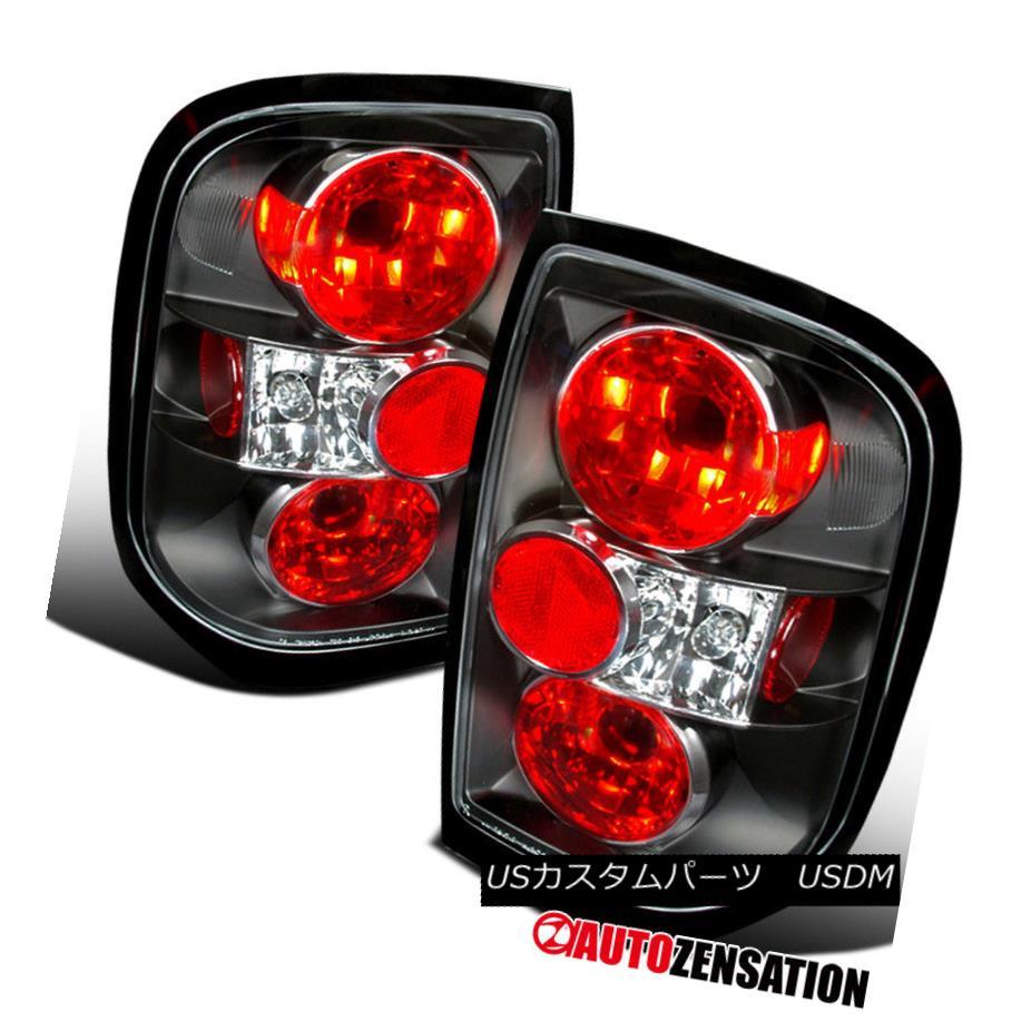 テールライト Fit 96-04 Pathfinder 97-04 QX4 Altezza Black Tail Lights Rear Brake Lamp フィット96-04パスファインダー97-04 QX4アルテッツァブラックテールライトリアブレーキランプ